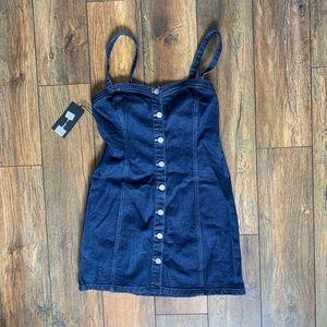 BRAND NEW Kendall + Kylie Denim Button Up Dress